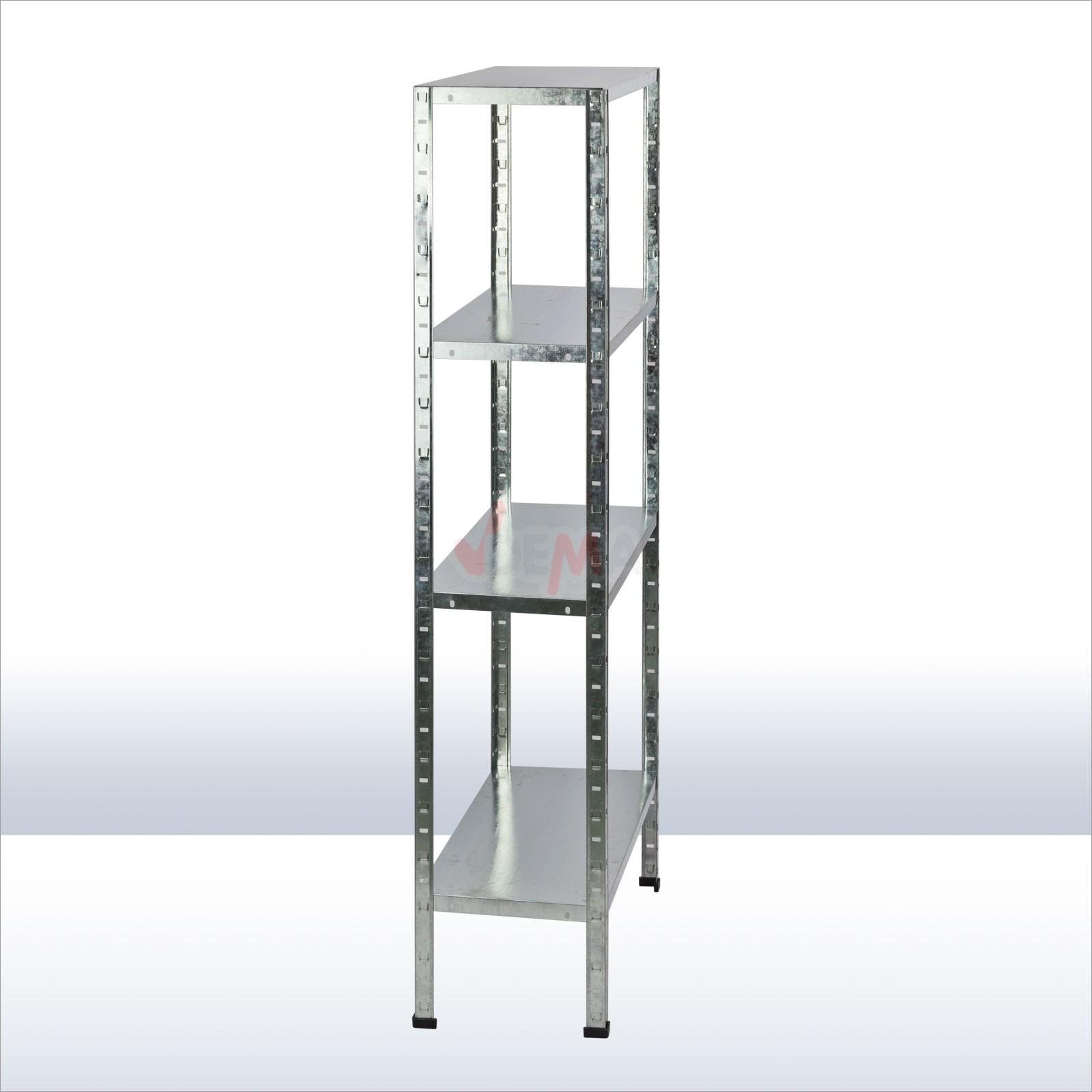 metall steckregal 4 b den 200 kg kellerregal haushaltsregal vorratsregal 15027 ebay. Black Bedroom Furniture Sets. Home Design Ideas