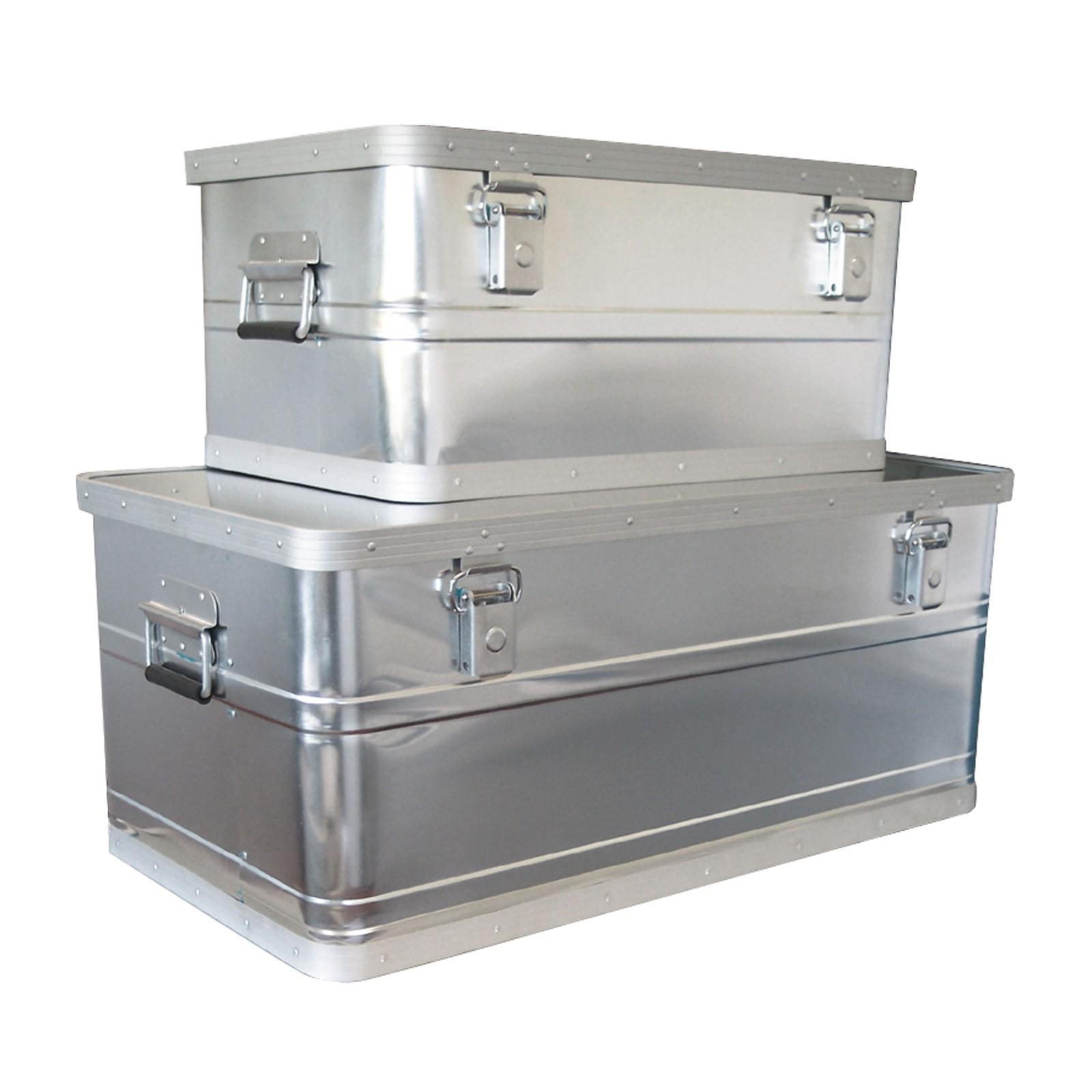 2er set werkzeugkiste werkzeugkasten alu box alukiste neu. Black Bedroom Furniture Sets. Home Design Ideas