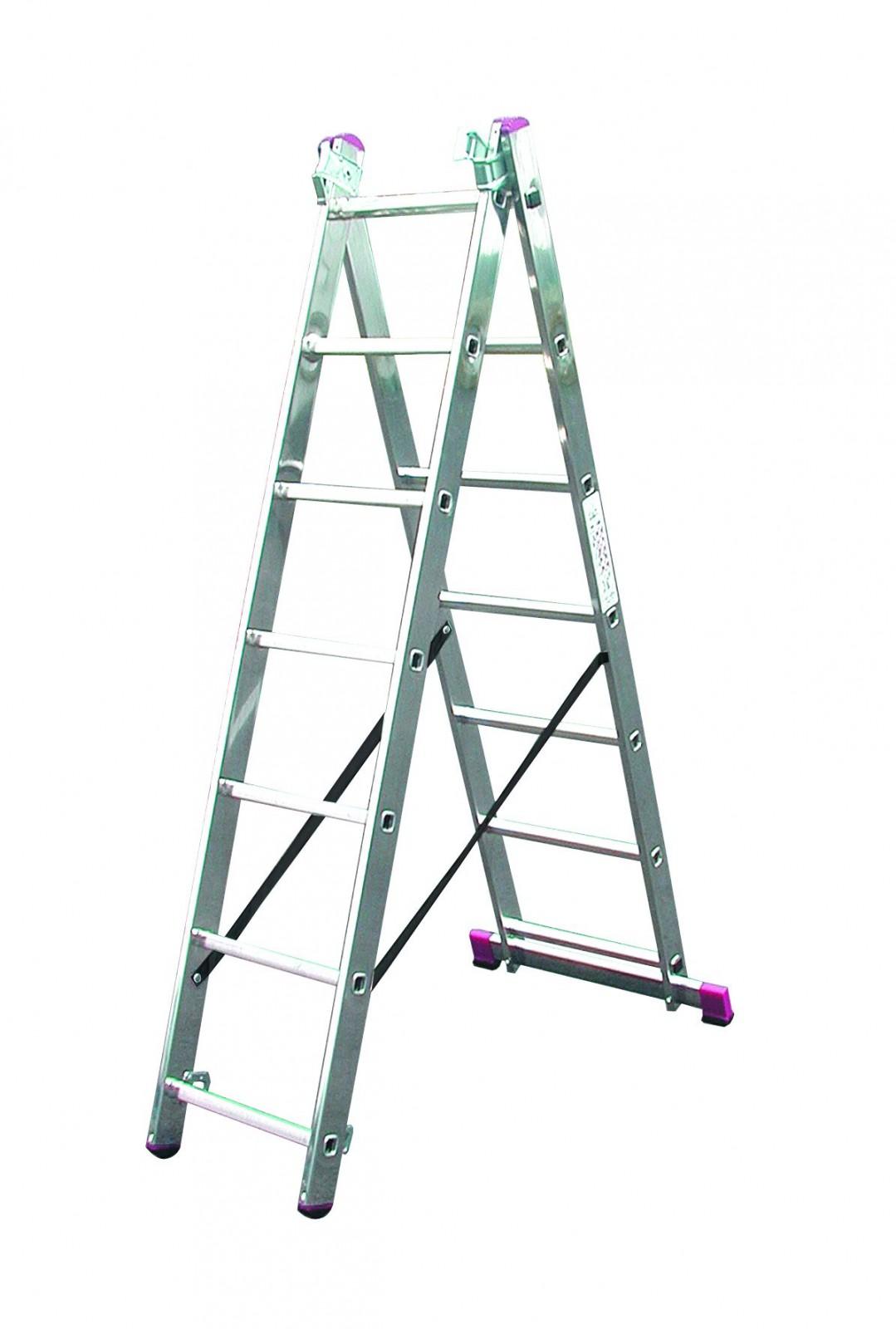 krause corda alu vielzweck treppenleiter 3x8 stufen stehleiter allzweckleiter ebay. Black Bedroom Furniture Sets. Home Design Ideas
