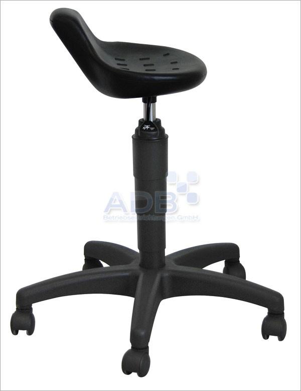 Adb drehhocker mit kurzer lehne ohne ring schwarz drehstuhl arbeitshocker ebay - Drehstuhl ohne lehne ...