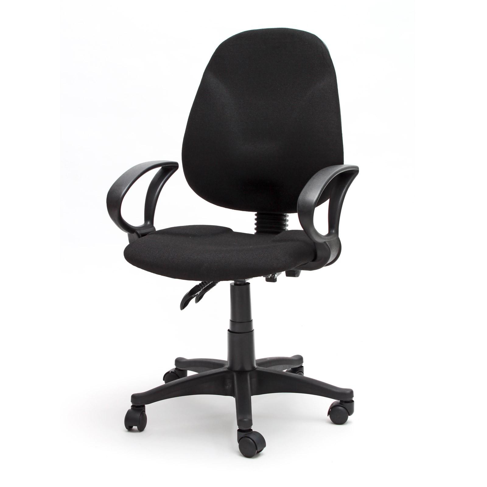 drehstuhl b ro b rostuhl stuhl bern schreibtisch stoffbezug schwarz ebay. Black Bedroom Furniture Sets. Home Design Ideas