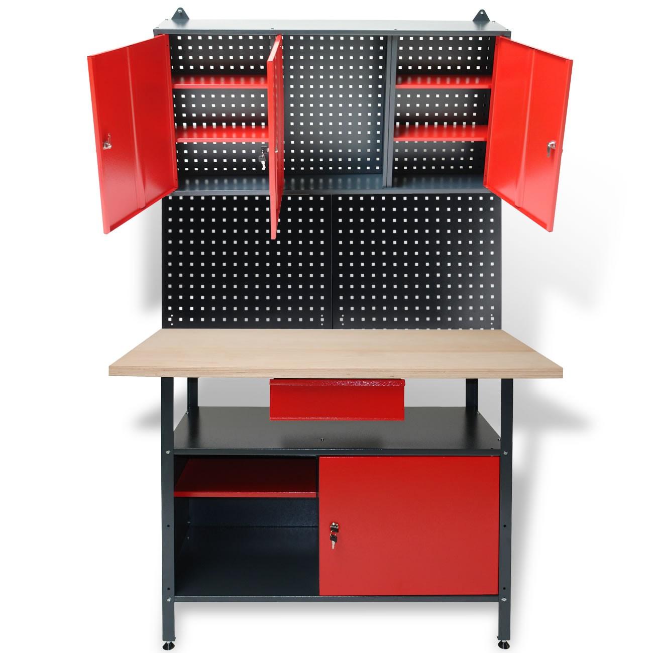 Rittal Wandschrank Set : Set werkbank hängeschrank system lochwand werktisch