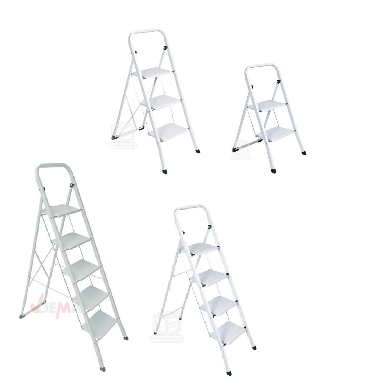 stahl haushaltsleiter klapptritt leiter 2 3 4 5 stufen stehleiter auswahl ebay. Black Bedroom Furniture Sets. Home Design Ideas