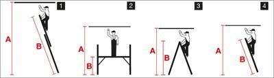krause corda alu leiternger st 2x6 2x7 sprossen. Black Bedroom Furniture Sets. Home Design Ideas