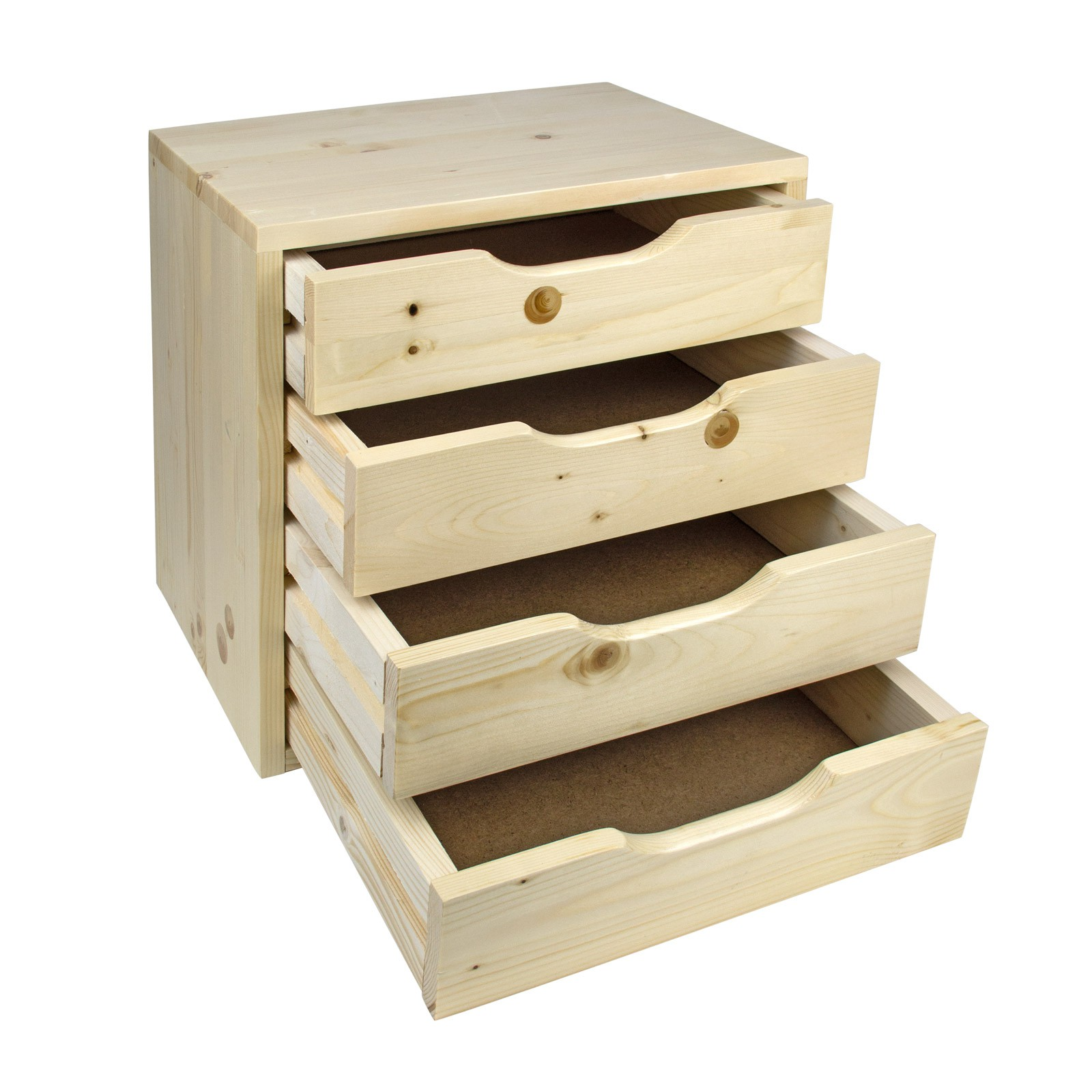 holz schubladenbox sb 3 4 5 6 schubladen ablagebox. Black Bedroom Furniture Sets. Home Design Ideas