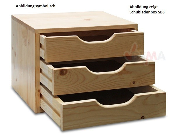 dema holz schubladenbox sb 3 4 5 6 schubladen ablagebox sch be zur auswahl. Black Bedroom Furniture Sets. Home Design Ideas