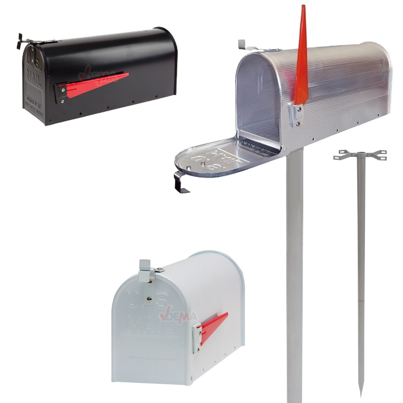Alu briefkasten us mailbox usa amerika postbox schwarz for American briefkasten