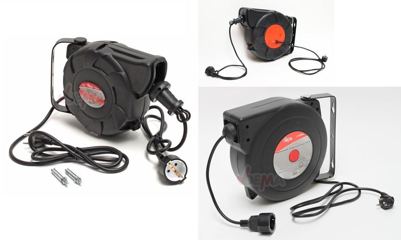 Dema automatik kabeltrommel 10 15 24 meter automatischer kabelaufroller ebay - Kabeltrommel dekorieren ...