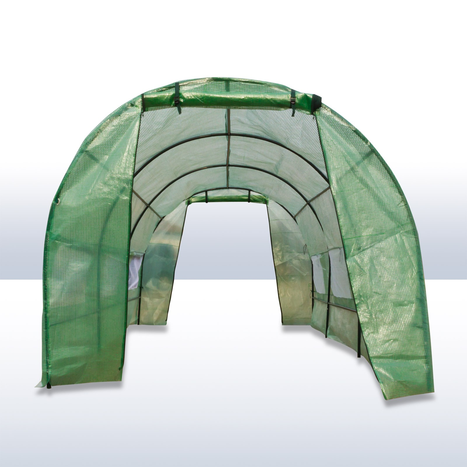 dema folien gew chshaus tunnel treibhaus 9 m 18 m ebay. Black Bedroom Furniture Sets. Home Design Ideas