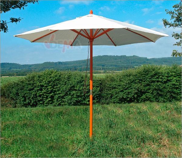 holz sonnenschirm 270 cm orange gr n grau anthrazit beige bordeaux terracotta ebay. Black Bedroom Furniture Sets. Home Design Ideas