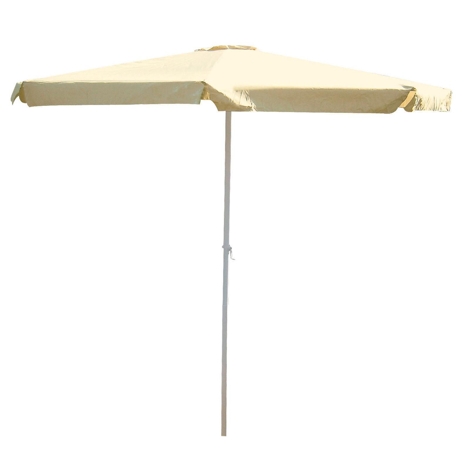 alu kurbel marktschirm sonnenschirm 350 cm terracotta blau beige ebay. Black Bedroom Furniture Sets. Home Design Ideas