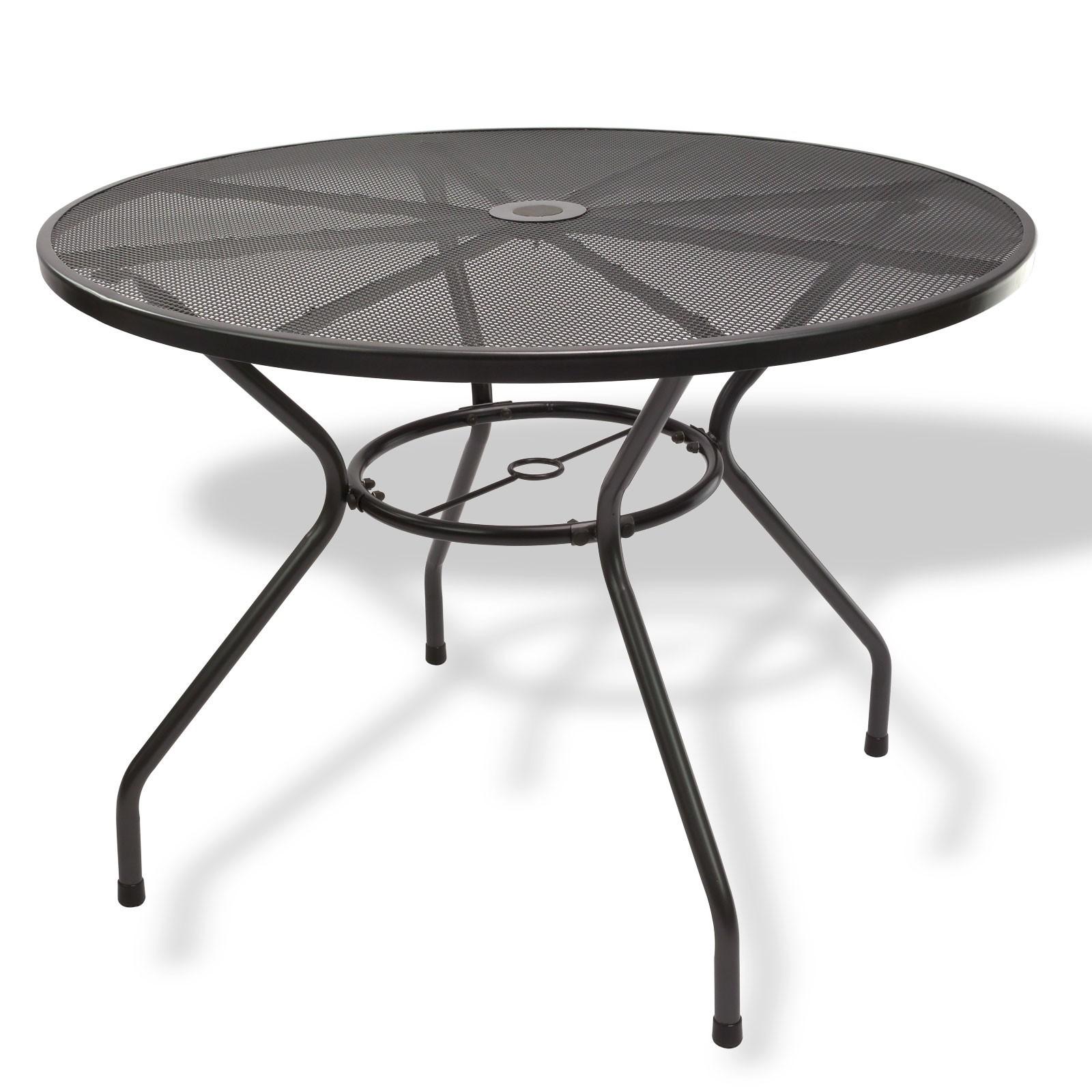 gartenm bel stapelstuhl bank tisch rund streckmetall anthrazit balkon terrasse ebay. Black Bedroom Furniture Sets. Home Design Ideas