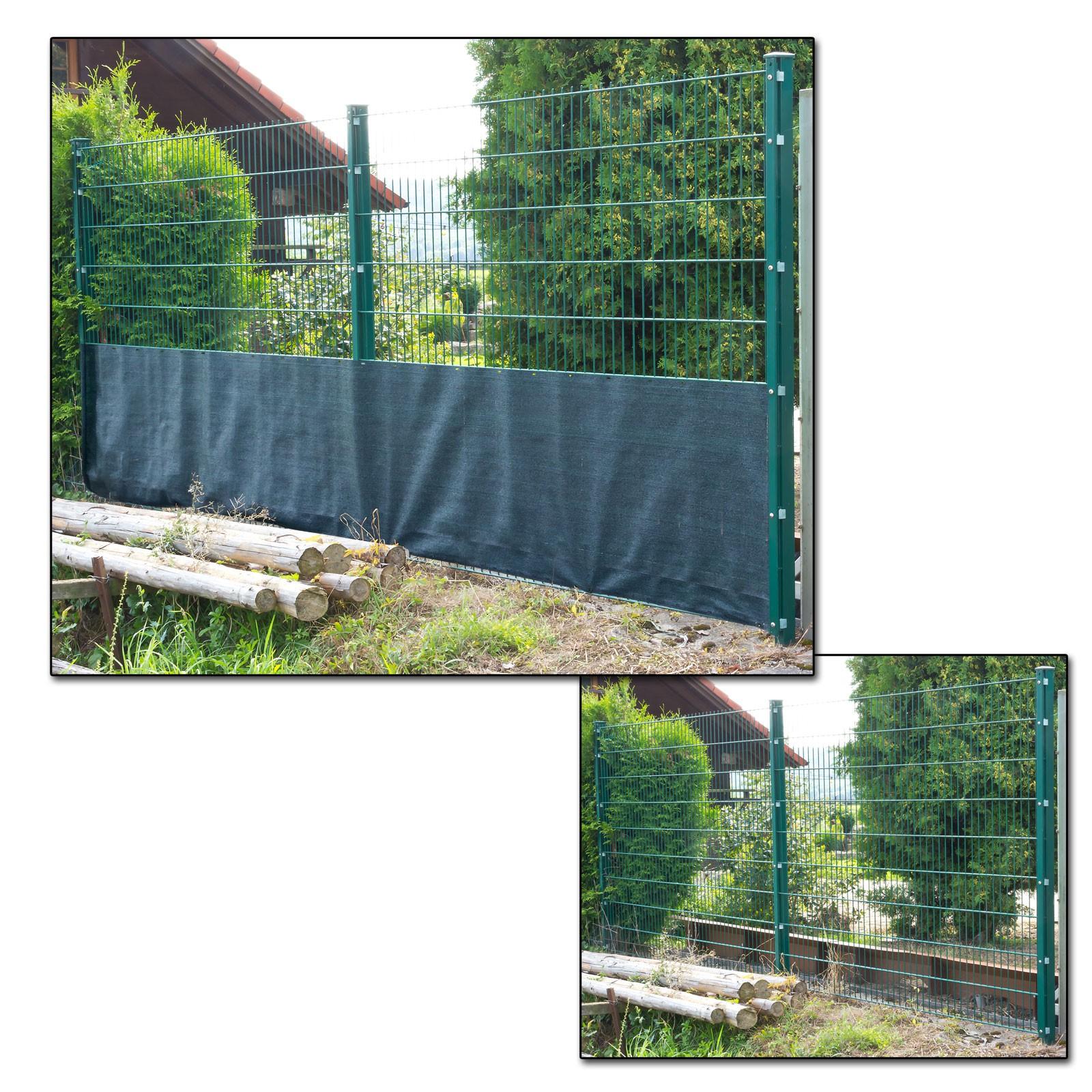 Sichtschutzzaun dunkelgrün 25 x 1 · 1 20 · 1 50 · 1 80 · 2 m