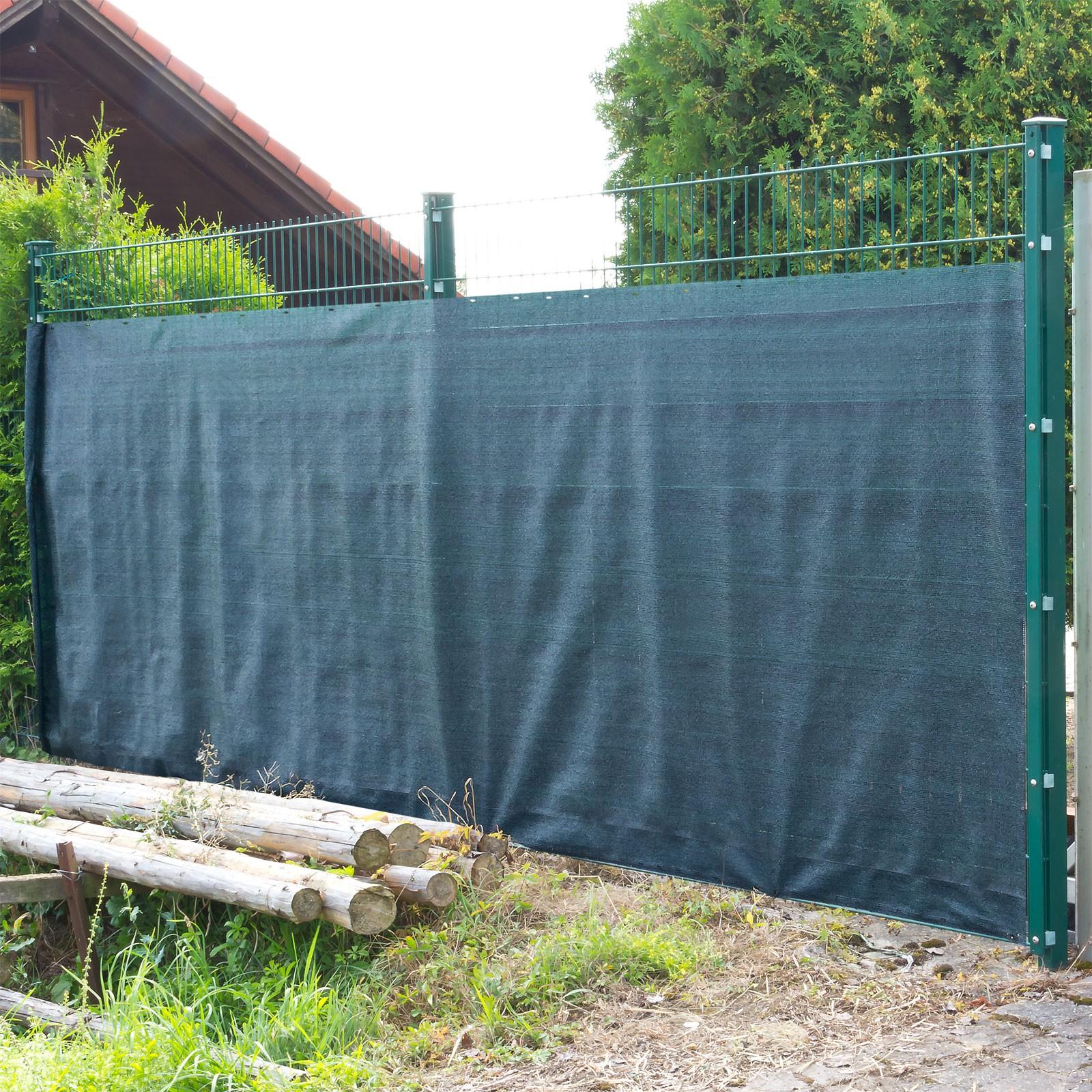 sichtschutz matte schutzzaun 25 x 1 2 m schutznetz gr n ebay. Black Bedroom Furniture Sets. Home Design Ideas
